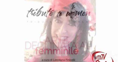 """webtvstudios ester campese2 390x205 - Ester Campese l'artista delle donne e il suo """"Tribute To Woman"""""""