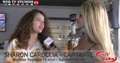 Sharon Caroccia: a solo 15 anni da Sanremo Young,  Intervistata Web Tv Studios di Roma