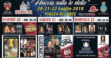 Ariccia Sotto Le Stelle 2018 Tre serate di spettacolo nel cuore dei Castelli Romani
