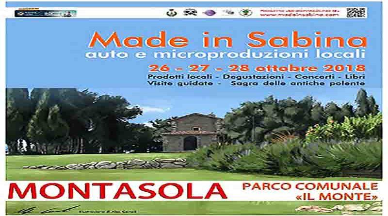 Made in Sabina è un'occasione per conoscere e assaggiare le auto e micro-produzioni agricole locali: