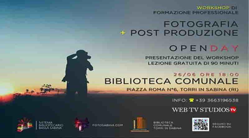 Corso di Fotografia Post Produzione in Sabina Open Day 26 Giugno