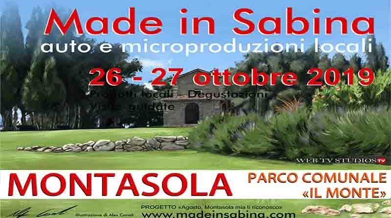 Made In Sabina:  Auto e Microproduzioni Locali a Montasola 26 – 27 0ttobre