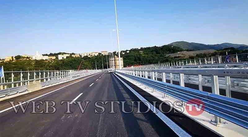 Genova: Inaugurazione cerimonia  Ponte San Giorgio A10